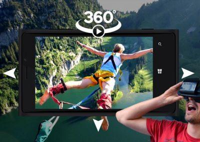 Création de vidéo 360°