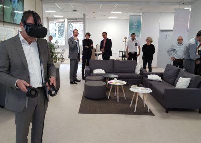 Démonstration réalité virtuelle avec location de casque au crédit agricole
