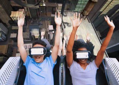 Fête forraine et manèges en réalité virtuelle