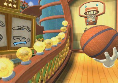 Animation réalité virtuelle - panier basket arcade