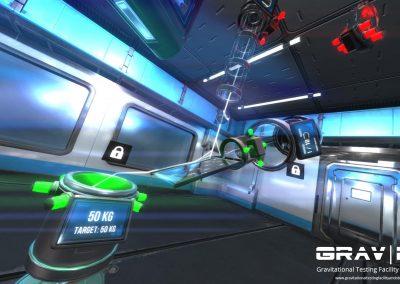 lois physiques, gravité en réalité virtuelle