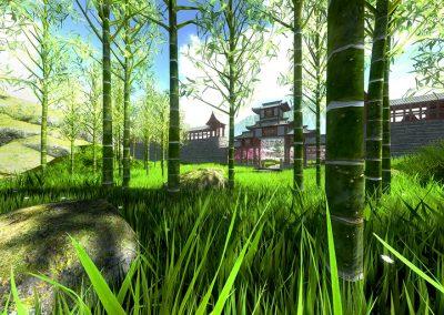 Temple japonais en VR - location casque animation