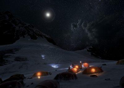 Explorer le sommet de l'Everest en VR