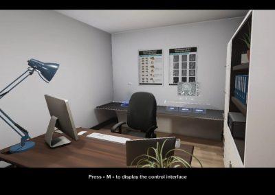 Simulateur pro en réalité virtuelle
