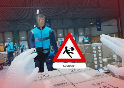 Prevention accident chariot élévateur