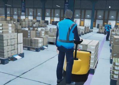 training sécurité logistique en réalité virtuelle