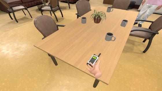 Formation EHPAD VR - rester en contact avec le reste du personnel soignant