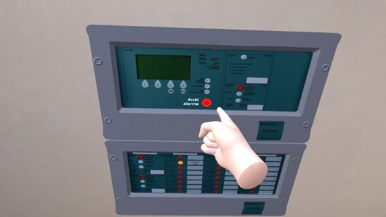 Formation EHPAD VR - acquitter alarme du SSI