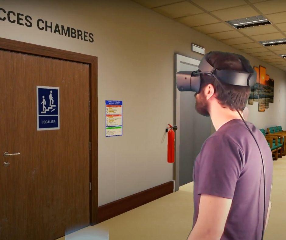 Formation réalité virtuelle sécurité incendie erp U et J (EHPAD)