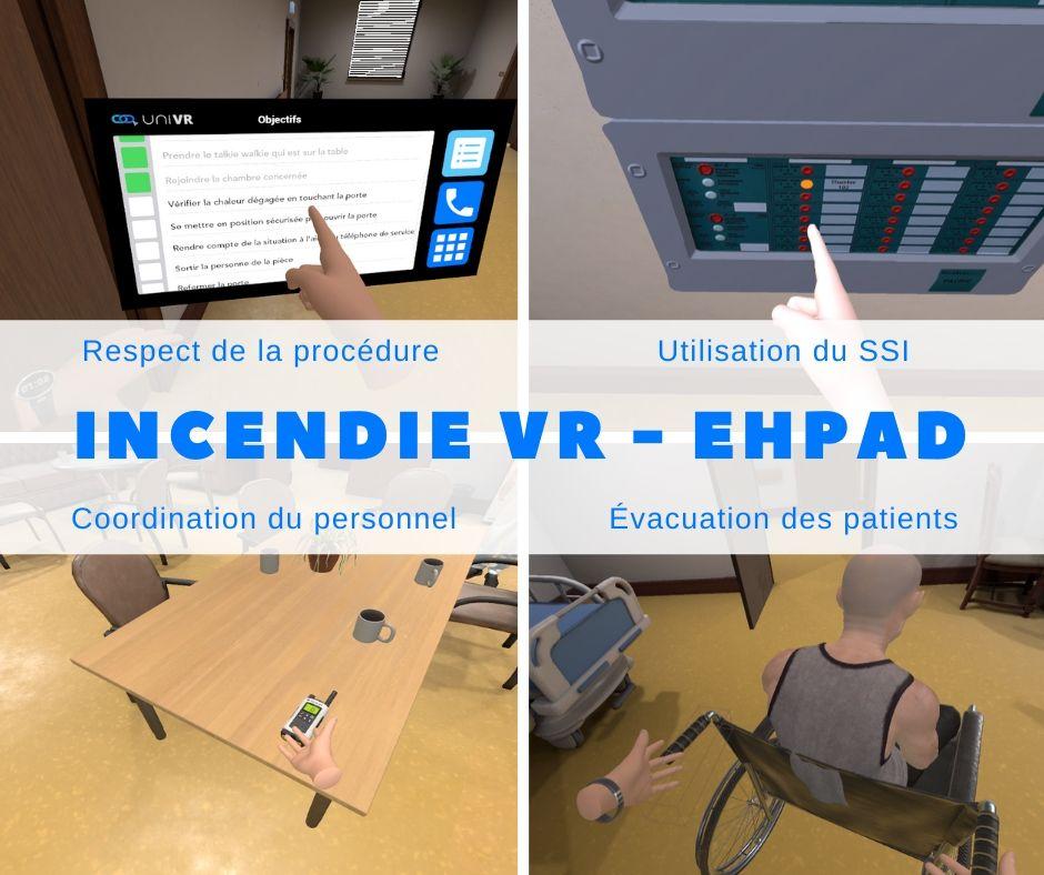 module incendie réalité virtuelle pour établissement erp U et J (EHPAD)